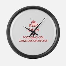 Cake Decorators Large Wall Clock