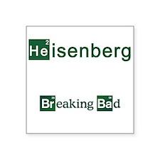 "Breaking Bad HEISENBERG Square Sticker 3"" x 3"""