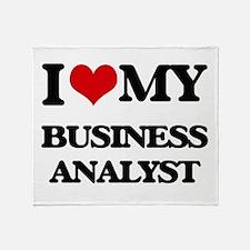I love my Business Analyst Throw Blanket