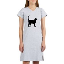 Cat Silhouette Women's Nightshirt