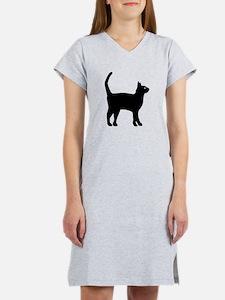 Cat Silhouette Women's Nightshirt