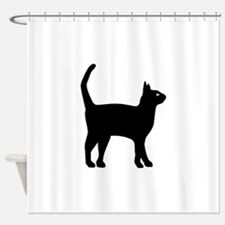 Cat Silhouette Shower Curtain