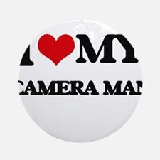 I love my Camera Man Ornament (Round)