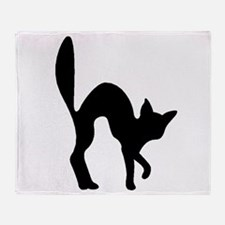Halloween Cat Silhouette Throw Blanket