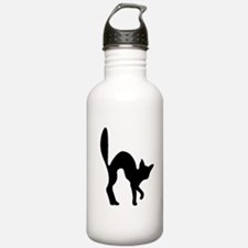Halloween Cat Silhouette Water Bottle