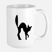 Halloween Cat Silhouette Mugs