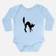 Halloween Cat Silhouette Body Suit