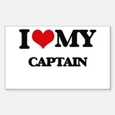I love my Captain Decal