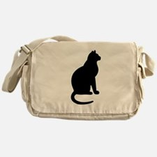 Cat Silhouette Messenger Bag