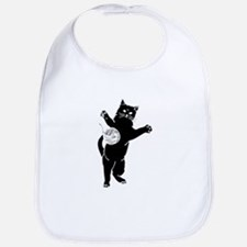 Cat And Yarn Silhouette Bib