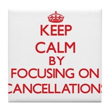 Cancellations Tile Coaster