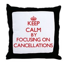 Cancellations Throw Pillow