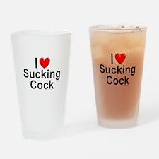 Sucking Cock Drinking Glass