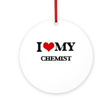 I love my Chemist Ornament (Round)