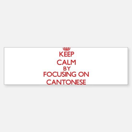 Cantonese Bumper Bumper Bumper Sticker