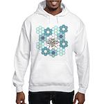 Honeybee & Flowers Hooded Sweatshirt
