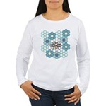 Honeybee & Flowers Women's Long Sleeve T-Shirt