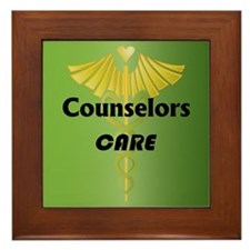 Counselors Care Framed Tile