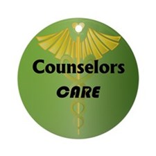 Counselors Care Ornament (Round)