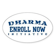 Enroll Now - Dharma Initiative Oval Bumper Stickers