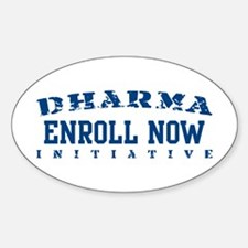Enroll Now - Dharma Initiative Oval Decal