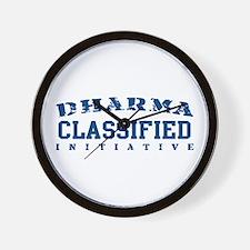 Classified - Dharma Initiative Wall Clock