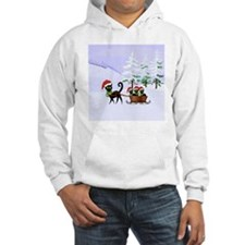 Cute Xmas kittens on a sleigh Hoodie