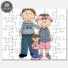 Someone I Love Is A Survivor Family Puzzle