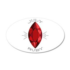 July Ruby Wall Decal