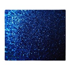 Blue Glitter Throw Blanket