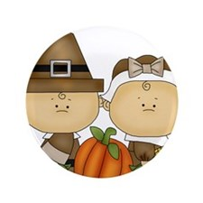 """My First Thanksgiving 3.5"""" Button (100 pack)"""