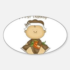 My First Thanksgiving - Baby Girl Decal