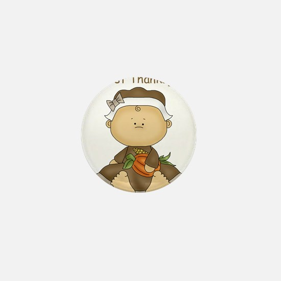 My First Thanksgiving - Baby Girl Mini Button (10