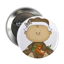 """My First Thanksgiving - Baby Girl 2.25"""" Button (10"""