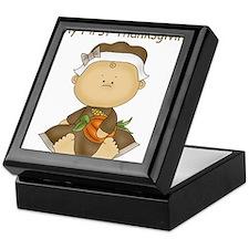 My First Thanksgiving - Baby Girl Keepsake Box