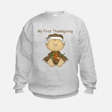 My First Thanksgiving - Baby Girl Sweatshirt