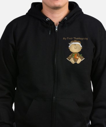 My First Thanksgiving - Baby Girl Zip Hoodie