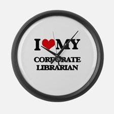 I love my Corporate Librarian Large Wall Clock