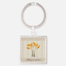Custom Art Deco Tulip Square Keychain