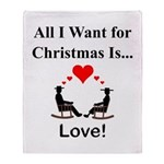Christmas Love Throw Blanket