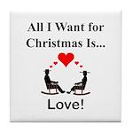 Christmas Love Tile Coaster