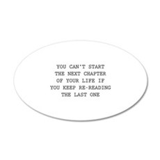 Next Chapter Of Your Life 22x14 Oval Wall Peel