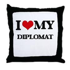 I love my Diplomat Throw Pillow