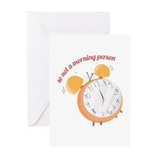 Morning Peson Greeting Cards