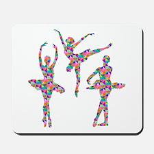 Geometric Pattern Ballerinas Mousepad