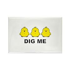 Chicks Dig Me Rectangle Magnet