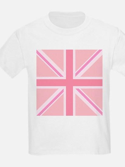 Union Jack/Flag Square Design Pinks T-Shirt