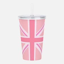 Union Jack/Flag Square Design Pinks Acrylic Double