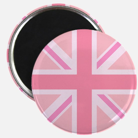 Union Jack/flag Circle Design Pinks Magnets