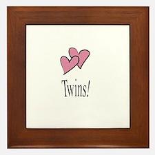 Cute Mom of twins Framed Tile